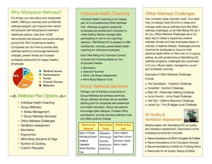 Corporate Wellness Brochure