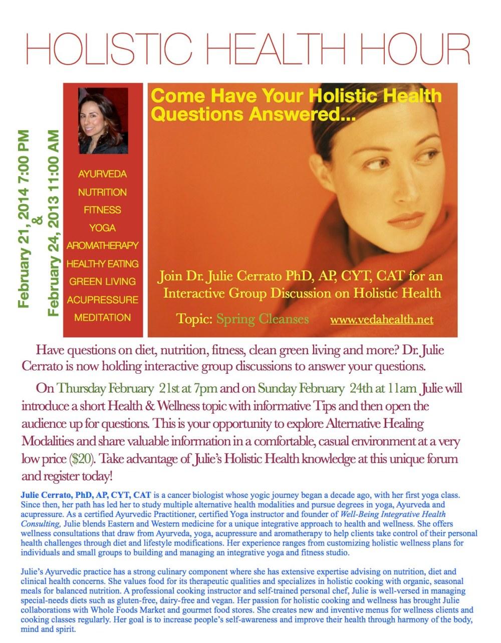 Holistic Health Hour Feb 2013 Photo