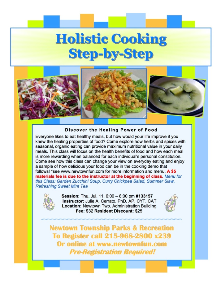 holistic cooking newtown july 2013
